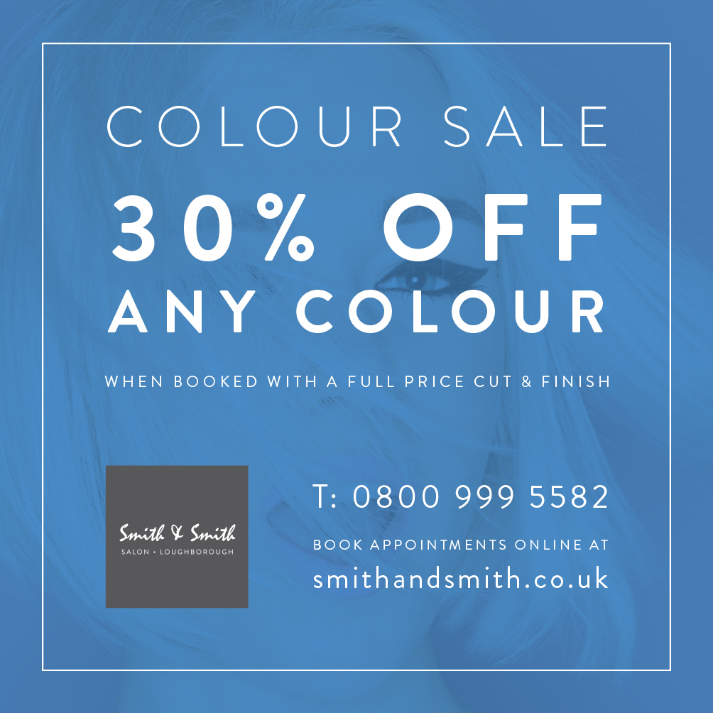 30% OFF Hair Colour in January 2017*
