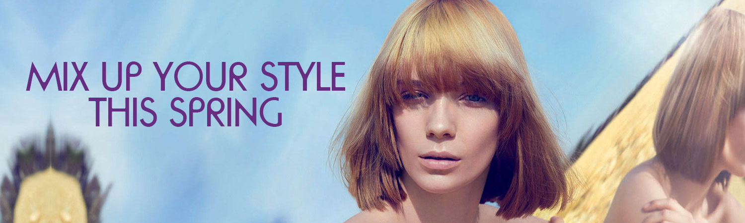 Beautiful spring hairstyles at Smith & Smith hairdressing salon in Loughborough