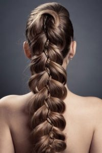 Plaited hairstyles at Smith & Smith hair salon in Loughborough