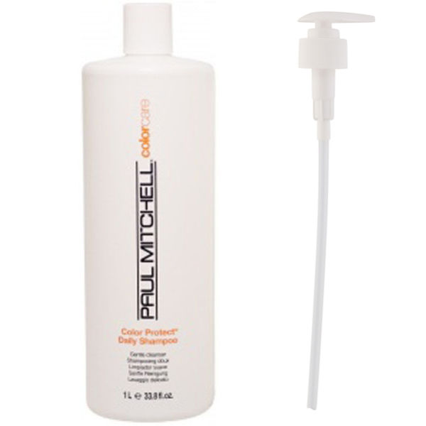PAUL MITCHELL COLOUR PROTECT DAILY SHAMPOO (1000ML) WITH PUMP (BUNDLE)